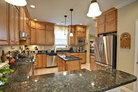 kitchen with island and peninsula popular kitchen design island or peninsula ideas railing stairs