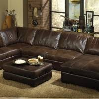 Leather U Shaped Sofa Living Room Impressive Letter U Shaped Sofa As Distressed Leather