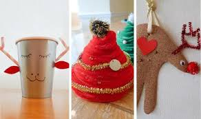 christmas decorations to make at home for kids christmas ornament chenille tree and reindeer cup easy diy festive