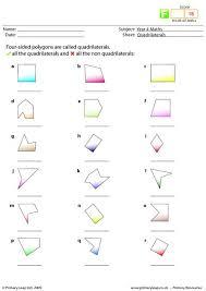 primaryleap co uk quadrilaterals worksheet