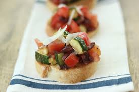 jenny steffens hobick tomato zucchini and olive bruschetta