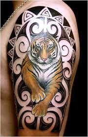 tiger designs on shoulder