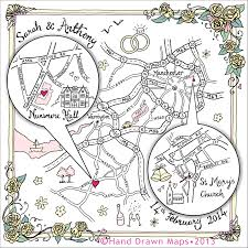 Map Guest Hand Drawn Map For Wedding Love This As An Idea For The Evening