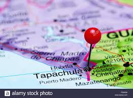 Maps Of Mexico by Tapachula Pinned On A Map Of Mexico Stock Photo Royalty Free