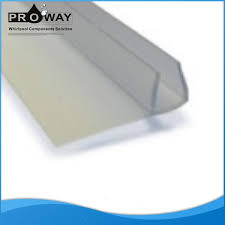 Plastic Shower Door Seal Shower Room Glass Door Accessories 6mm Flap Waterproof Rubber