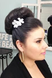 big bun hair bridal hairstyling big bun
