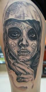 normal dia de los muertos lady tattoo design in 2017 real photo