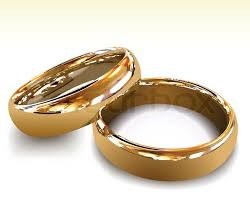 wedding rings gold gold wedding rings vector illustration stock vector colourbox