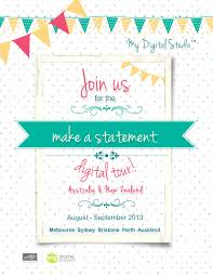 Launch Invitation Card Sample July 2013 The Stampers Mess