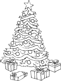 christmas tree coloring pages for kids printable coloring page