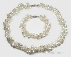 pearl bracelet set images Keshi double strand cultured pearl jewelry set buy bulk online jpg
