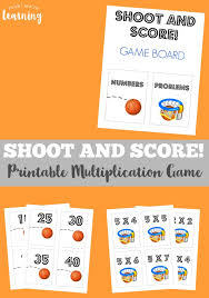 Multiplication Time Tables Shoot And Score Printable Multiplication Game Look We U0027re Learning