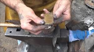 recycling brass for knives with the homemade forge melting