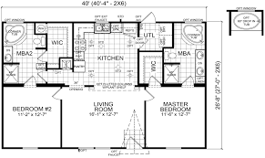 Double Wide Floor Plans With Photos Emory 28 X 40 1067 Sqft Mobile Home Factory Expo Home Centers