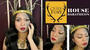 halloween makeup tutorial easy easy halloween makeup tutorial game of thrones house baratheon