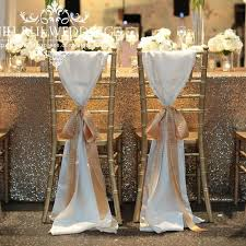 100 pcs chiffon chiavari chair sash chair cover for wedding decoration