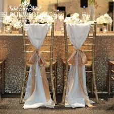 100 pcs chiffon chiavari chair sash chair cover for wedding decoration