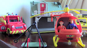 fireman sam toys playset helicopter burning house
