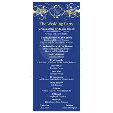 ceremony order for wedding programs wedding program royal blue yellow white floral