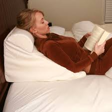 read in bed pillow bed wedge support pillow white acid reflux wedge