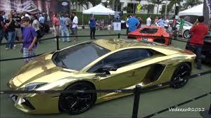 car lamborghini gold worlds first gold plated lamborghini aventador lp700 4 n muscle