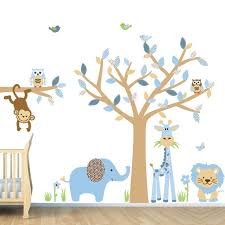 Jungle Wall Decal For Nursery White Background Baby Room Jungle Wall Decals Interior Design