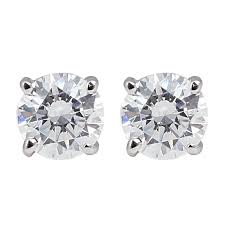 what size diamond earrings should i buy 14k white gold diamond stud earrings 1 cttw