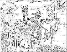 winnie pooh birthday party color disney coloring pages