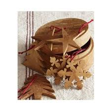 cinnamon bark cutout ornaments s 6 b design inc