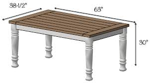 Plans For Wooden Coffee Tables by Diy Farmhouse Table Free Plans Rogue Engineer