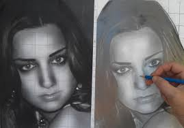 how to draw a female face portrait in pencil step by step