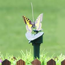solar powered electric rotating butterfly hummingbird decorative fly