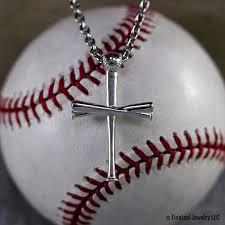 baseball jewelry sterling silver 2 0 baseball bat cross pendant all in faith