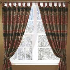 bear curtains drapes and valances window treatments cabin place