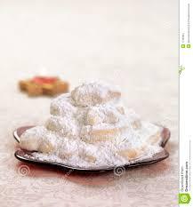 greek christmas dessert kourabiedes stock image image 17390851