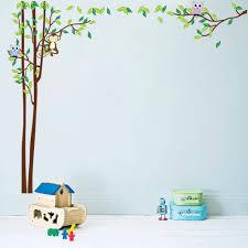 popular cartoon monkey wallpapers buy cheap new cartoon owl monkey wall stickers cute nursery bedroom children house decoration wallpaper diy waterproof art