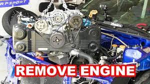 cosworth subaru engine how to remove subaru wrx sti ej25 2 5 long block engine and clutch