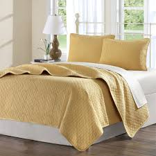 Gold Quilted Bedspread Amazon Com Hampton Hill Calypso Cotton Quilted Coverlet Set