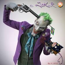 tutorial gambar joker 3d art the joker 3d concept art fantasy photoshop