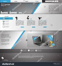 website template blue grey theme stock vector 135608945 shutterstock