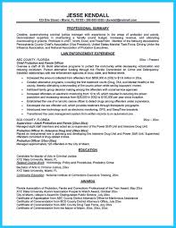 Law Enforcement Sample Resume by Correctional Officer Duties Resume Free Resume Example And