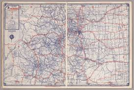 Map Of Colorado State by Rand Mcnally Road Map Colorado David Rumsey Historical Map