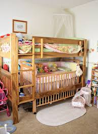 Baby Crib Bunk Beds Bunk Bed With Baby Crib Modern Bedroom Interior Design