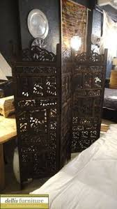 sheesham wood wooden screen partition kashmiri 72x80 4 4 panel carved indian stag deer screen wooden screen room divider