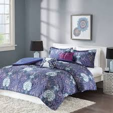 Purple Paisley Comforter Better Homes And Gardens Midnight Paisley 5 Piece Comforter Set