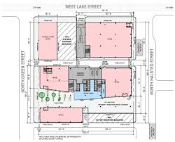 romanesque floor plan fulton market office plan doubles in size curbed chicago