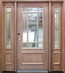 wood entry door with two sidelights unfinished wood exterior