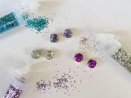 diy earring studs thanks i made it diy glitter earrings