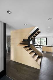 home design show montreal designer stairs created within a maple cube with angular cutouts a