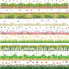 Garden Style Home Decor Aliexpress Com Buy Flowers Baseboard Wall Stickers Grass Plants